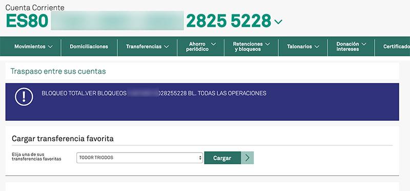 triodos bank cuentas bloqueadas